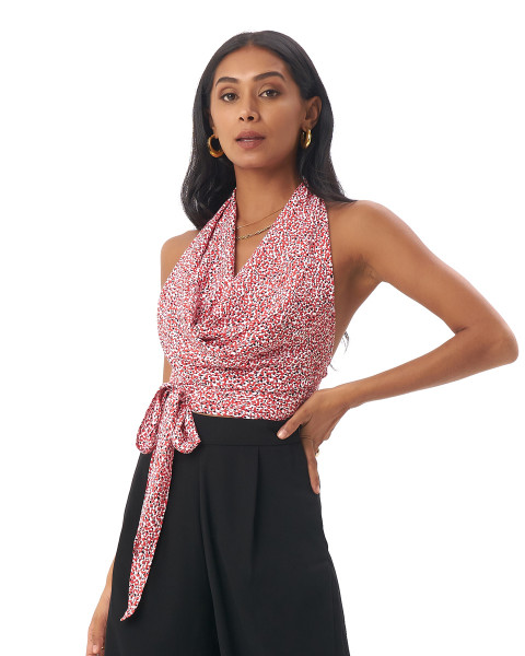 Avis Top in Amba Floral Red