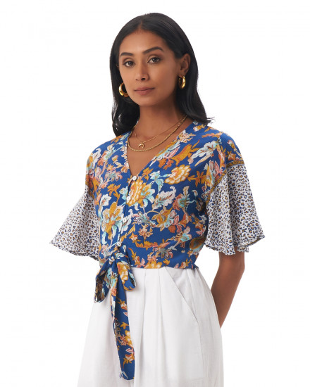 PALIA TOP IN Samira Cobalt Blue