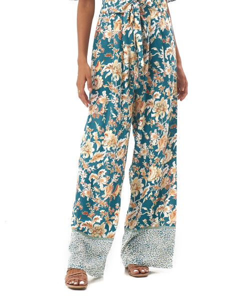 GEORGIA PANTS IN Samira Turquoise