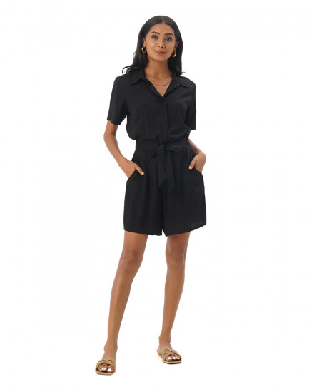 Melissa Romper in Black