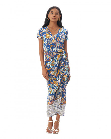 CANAVES DRESS IN Samira Cobalt Blue