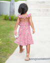 Chloe Dress in Amba Floral Red