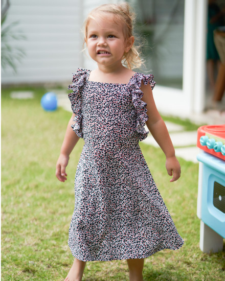 Chloe Dress in Amba Floral Black