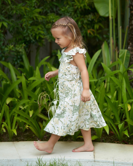 Chloe Dress in Isadora Floral Sage
