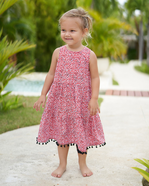 Kelly Dress in Amba Floral Red