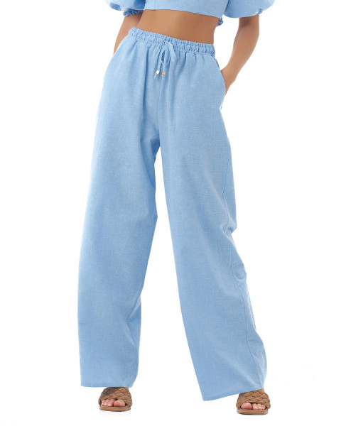 Nova Pants in Linen Sky Blue