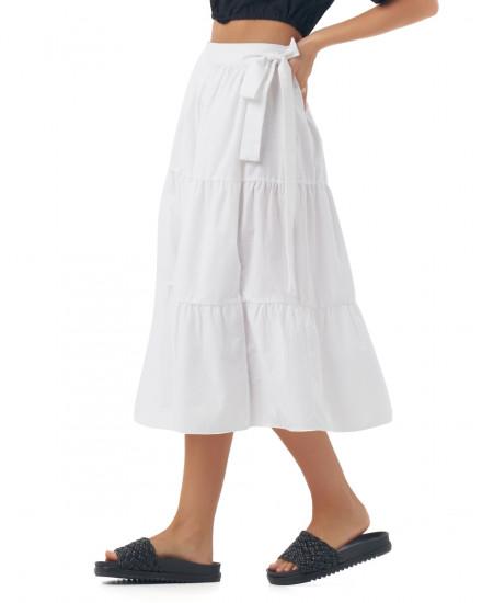 Zerlina Skirt In Linen White