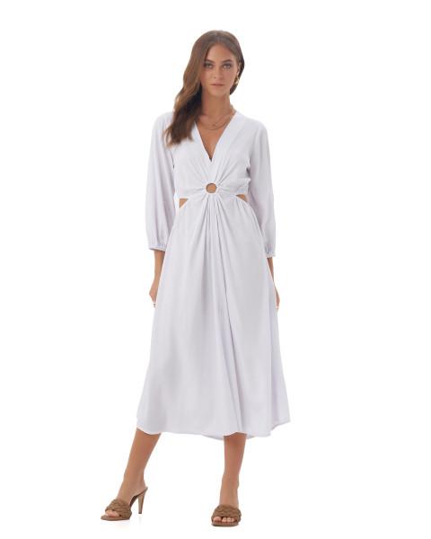 Diaz Dress in White