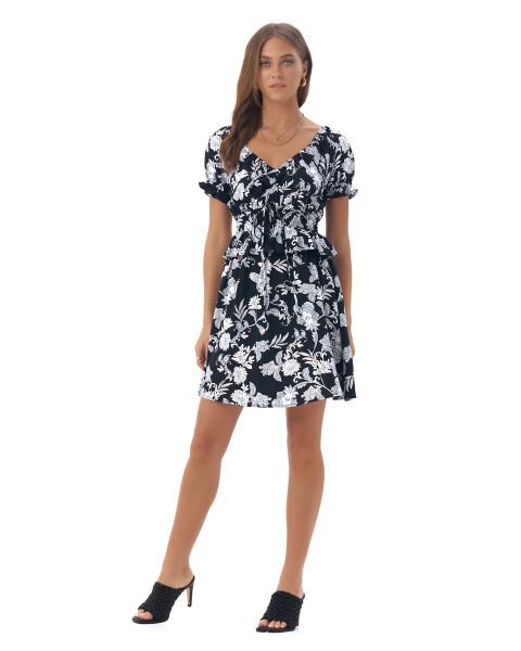 Levia Dress in Floral Vannya