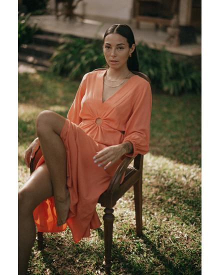 Diaz Dress in Persimmon