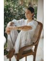 Galina Top in Linen Splatter White